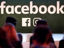 FILE PHOTO: Facebook logo is seen at Facebook Gather conference in Brussels