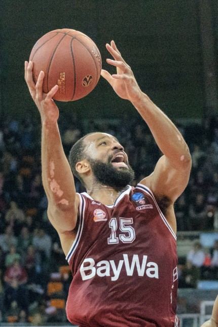 Reggie REDDING 15 FCB Basketball FC Bayern FCB UNICS Kazan Kasan UKA Euro Cup Vierte