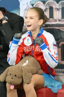 Figure skating Eiskunstlauf Alexandra Trusova Photo taken on March 10 2018 shows Russia s Alexand