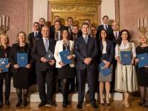 Vereidigung des bayerischen Kabinetts
