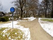 Radweg Grafing - Grafing Bahnhof Gindelkofener Weg.