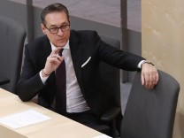 Austria's Vice Chancellor Strache attends a session of the parliament in Vienna