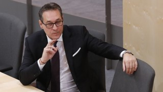 Austria's Vice Chancellor Strache attends a session of the parliament in Vienna