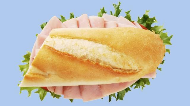 Das klassische Sandwich in Frankreich: Schinkenbaguette