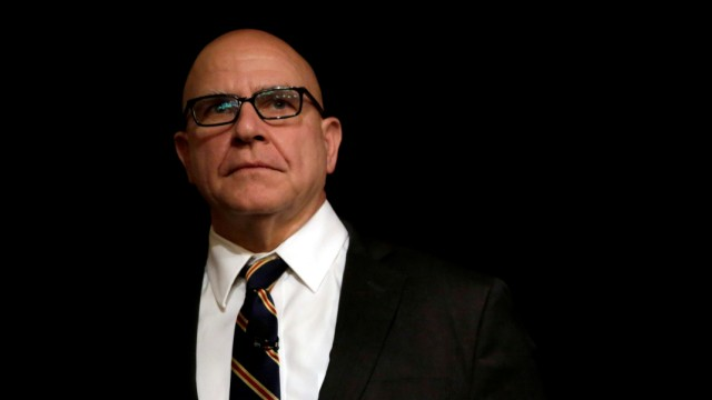 FILE PHOTO: National security adviser Lt. Gen. H.R. McMaster at the FDD National Security Summit in Washington