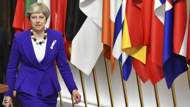 Die britische Premierministerin Theresa May auf dem EU-Gipfel im März 2018 in Brüssel.