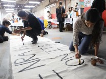 Activists Gather To Make Signs And Art Ahead Of Saturday's March For Our Lives