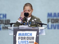 Students and young people gather for the 'March for Our Lives' rally demanding gun control in Washington