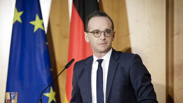 Bundesaussenminister Heiko Maas SPD bei der Amtsuebergabe der Staatsminister und Staatssekretaere