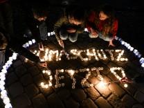 Klimaschutzaktion 'Earth Hour' in Freiburg