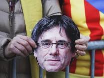 Carles Puigdemont auf einem Foto - im März 2018 wurde der katalanische Ex-Präsident in Deutschland festgenommen.