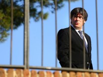 Catalan President Carles Puigdemont attends a memorial event at the tomb of former president of the Generalitat, the regional government, Lluis Companys in Barcelona,