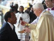 Biya; Afrika; Benedikt; Papst; AFP