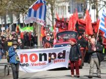 Demontsration gegen geplante NPD-Veranstaltung
