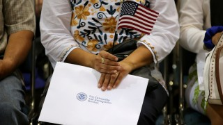 FILE PHOTO: Immigration ceremony in Los Angeles for new United States citizens