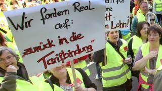 Real-Mitarbeiter protestieren