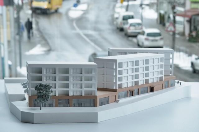 Model von Investoren Sontowski & Partner, Bebauung Grundschulareal; Neubau Gauting