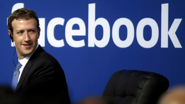 FILE PHOTO: Facebook CEO Zuckerberg during a town hall at Facebook's headquarters in Menlo Park,