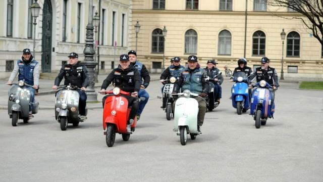 Verkehr in München Motorroller
