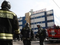 Brand in Moskauer Einkaufszentrum