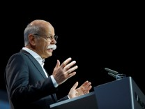 Daimler CEO Zetsche gives a speech at the Daimler annual shareholder meeting in Berlin