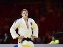 30 08 2017 JUDO SUZUKI WORLD CHAMPIONSHIPS BUDAPEST 2017 Lukas Reiter AUT wit wint din de eerste; Judo