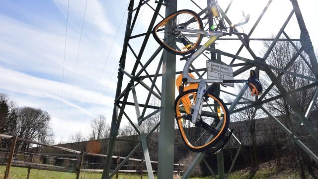 Verkehr in München Obike-Vandalismus