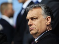 Hungarian Prime MInister Orban talks attends the consecration of a statue in memory of Smolensk plane crash victims in Budapest