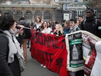 jetzt Protest Frankreich Unis