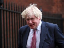 FILE PHOTO: Britain's Foreign Secretary Boris Johnson leaves 10 Downing Street in London