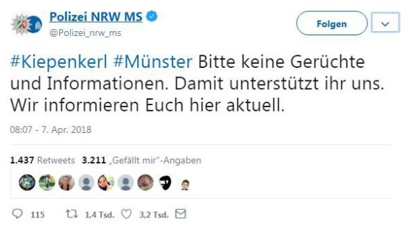 Twitter-Account Polizei Münster