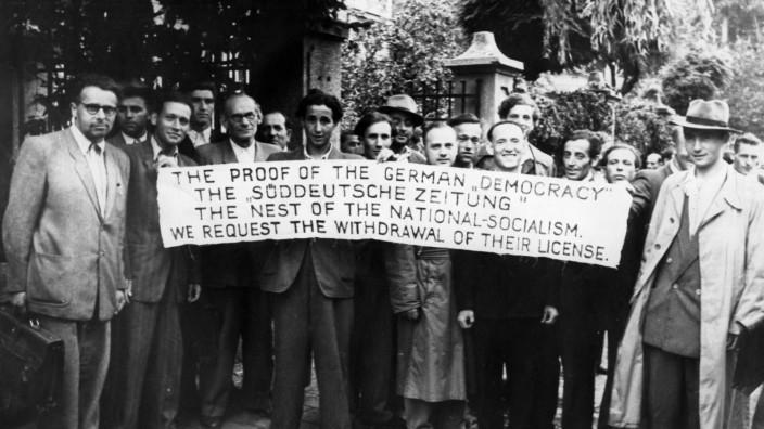 Jüdische Demonstration gegen Bericht der Süddeutschen Zeitung, 1949