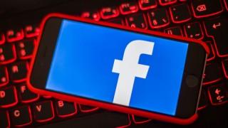 Facebook-Logo auf einem Smartphone