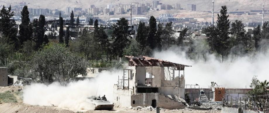 Krieg in Syrien Angriff auf syrische Militärbasis