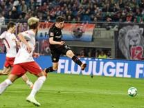 Kai Havertz von Bayer Leverkusen erzielt im Bundesliga-Spiel 2018 gegen RB Leipzig den zwischenzeitlichen Ausgleich.