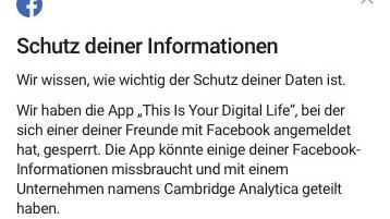 facebook betroffen