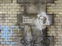 Graffito zur Wohnungsnot in München, 2016
