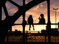 Tagesausklang auf der Brücke
