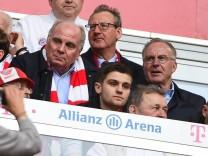 Praesident Uli Hoeness FC Bayern Muenchen unds Vorstandsvorsitzender Karl Heinz Rummenigge FC Bay; Hoeneß