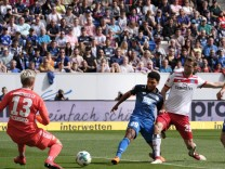 Fussball Bundesliga Saison 2017 2018 Sinsheim Rhein Neckar Arena 14 4 2018 TSG 1899 Hoffenhe