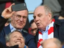 Uli Hoeneß und Karl-Heinz Rummenigge im Stadion