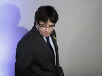 Carles Puigdemont Holds Press Conference Following Release From German Prison