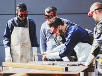 Flüchtlinge bei der Ausbildung