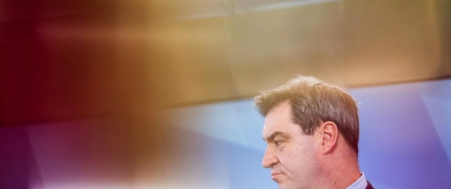 Bayerns Ministerpräsident Markus Söder spricht auf einer Pressekonferenz nach der erster Kabinettssitzung seit seiner Vereidigung.