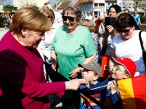 German Chancellor Angela Merkel meets with leaders of East German federal states in Bad Schmiedeberg