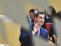 RegierungserklâÄ°rung im bayerischen Landtag