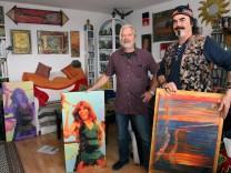 Hippie-Künstler veranstalten Party