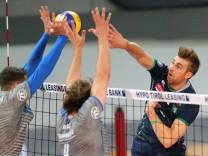 VOLLEYBALL VBL Tirol vs Friedrichshafen INNSBRUCK AUSTRIA 18 APR 18 VOLLEYBALL VBL semifinal