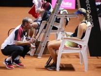 BAU 18 04 2018 Stuttgart Tennis Fed Cup Training von Angelique Kerber v l Kapitän Jens Gerlach