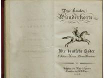 Titelblatt von Des Knaben Wunderhorn